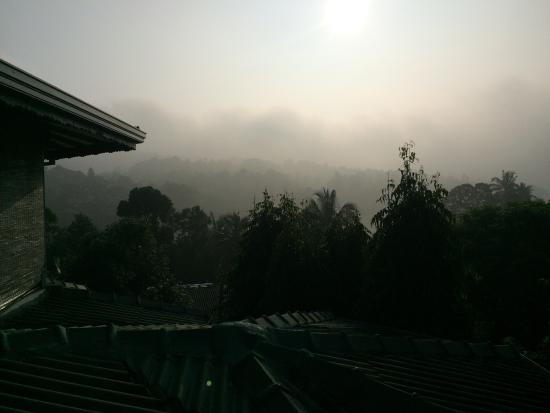 Kandy Holiday Home: Morning view from the balcony of our room