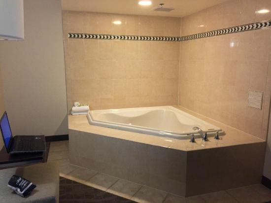 Holiday Inn Express Meadowlands: Jacuzzi tub in 4th floor room, well worth it!