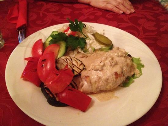 Faeton: #48 Mushroom chicken, plus grilled vegetables