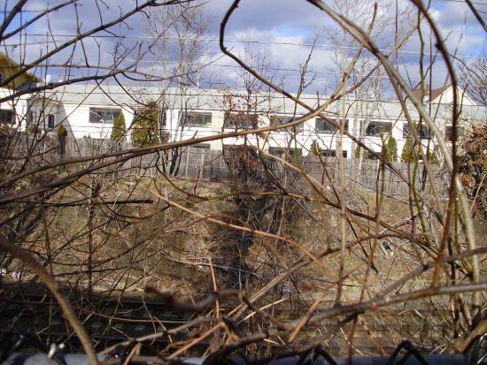 Attleboro Motor Inn: view from the RR tracks