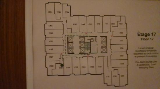 Sheraton Le Centre Montreal Hotel : Floor layout