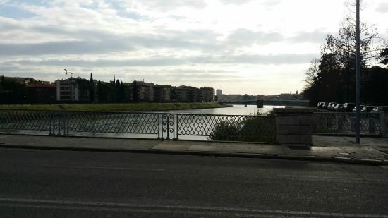 Residence all'Adige : vista dalla strada dietro al residence