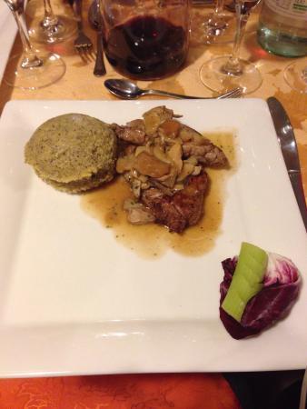 Ristorante Adalgisa: Nodino di vitello con porcini, polenta di grano saraceno