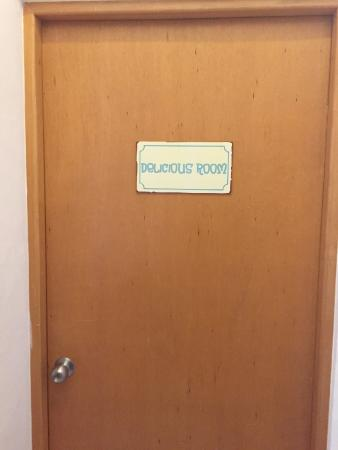 "Playa Vintage B&B: Our room door to the creepy ""Delicious"" room"