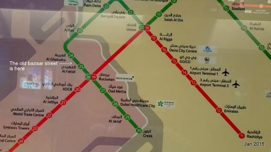 Meena Bazaar: Get down at Al Fahidi metro station