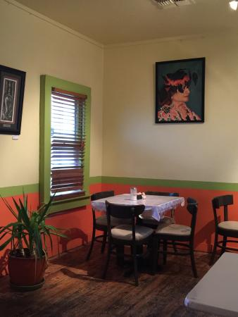 Los Jalapenos Cafe : Cheerful cafe across the tracks.