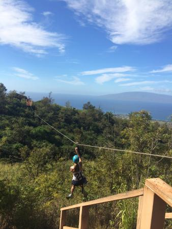 Yipeeee! - Picture of Skyline Eco-Adventures Zipline Tours