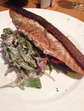 Bacchus at Milton: Atlantic salmon...burnt