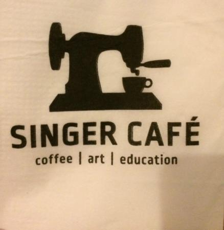 Singer Cafe: Napkin from the Cafe