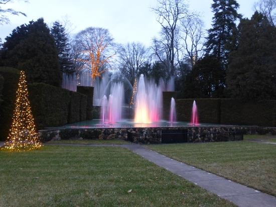Lighted Open Air Theatre Fountain Show Longwood Gardens