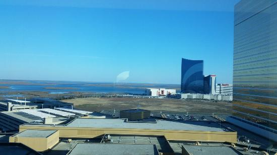 View from 15th floor room overlooking Absecon Bay. Great views, clean and spacious room.