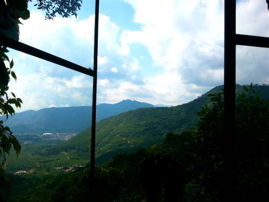 Earth Lodge: Our View from The Deluxe Tree Cabin