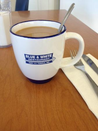 Blue & White Restaurant: Good Coffee- cute mugs