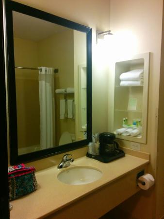 Holiday Inn Express Hotel & Suites - Nacogdoches: Photo doesn't do the counter space justice