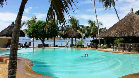 Pool And Beach View Picture Of Linaw Resort Restaurant Panglao Island Tripadvisor
