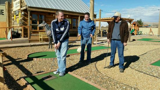 Van Horn, TX: Playing a round.
