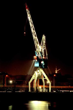 Harlingen Harbour Crane / Crane Hotel: Havenkraan van Harlingen