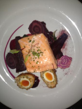 Purslane : Loch Duart salmon with beetroot and spinach