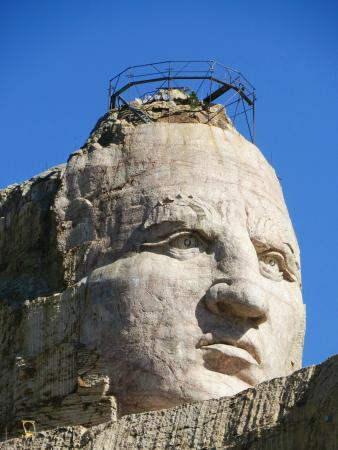 Crazy Horse sculpture