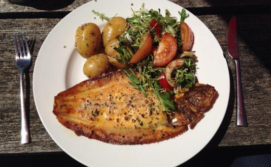 The Horse and Groom: Lemon sole with salad and baby potatoes - flavour was immense!