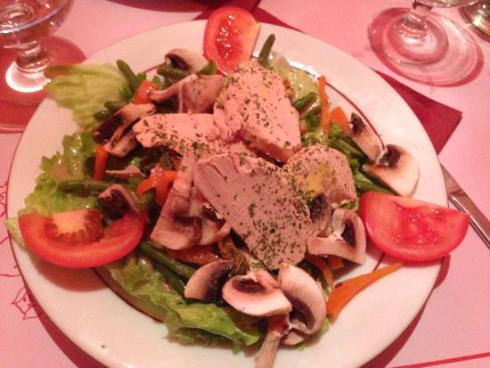 La Cochonnaille: insalata con foie gras