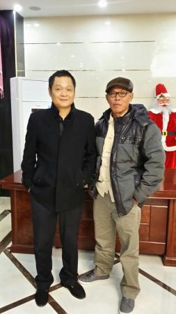 Airtown Chain Hotel Guangzhou Airport : A snap shot with Konggang hotel's manager.