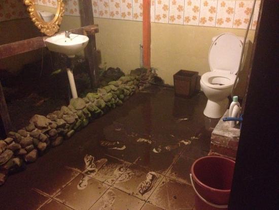 Manana Borneo Resort: Flooded bathroom