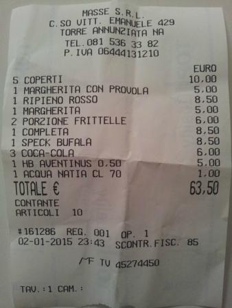 Torre Annunziata, Italien: il conto