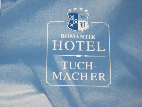 Romantik Hotel Tuchmacher: Hotel Sign