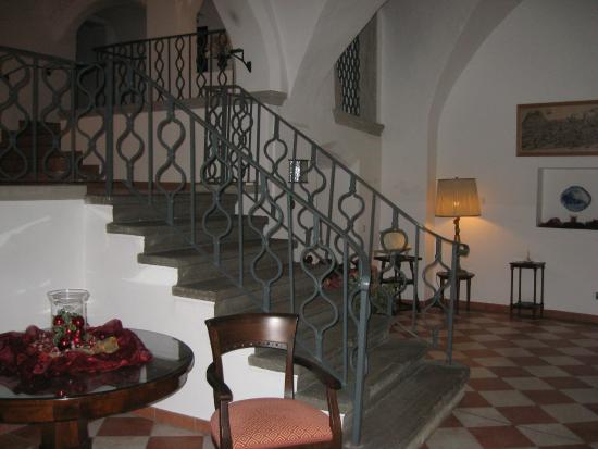 Romantik Hotel Tuchmacher: Entrance to Rooms; Elevator to the Left (not in picture)