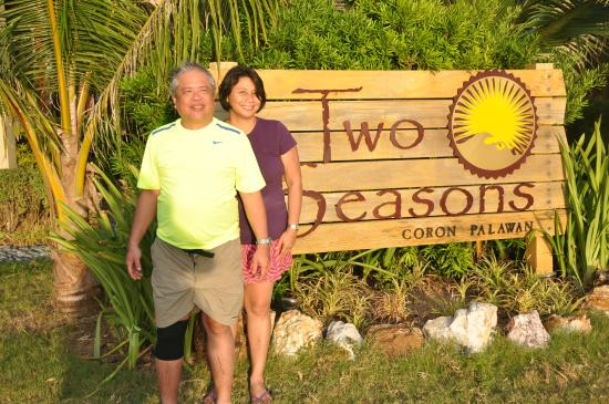 Two Seasons Coron Island Resort & Spa : That's me and my husband in front of the Two Seasons