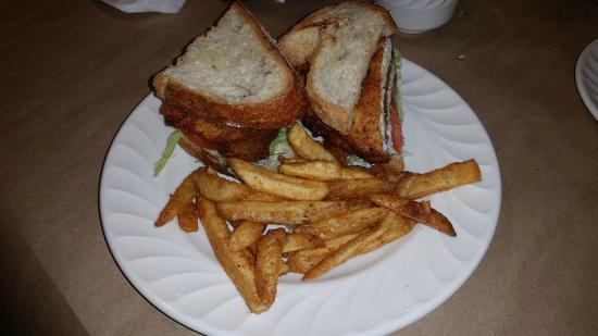 Woolley's Seafood House: Flounder Sandwich