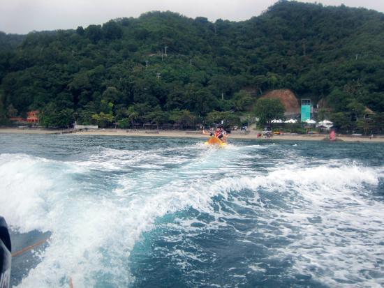 Banana Boat Ride - Picture of Palm Beach Resort, Laiya - TripAdvisor