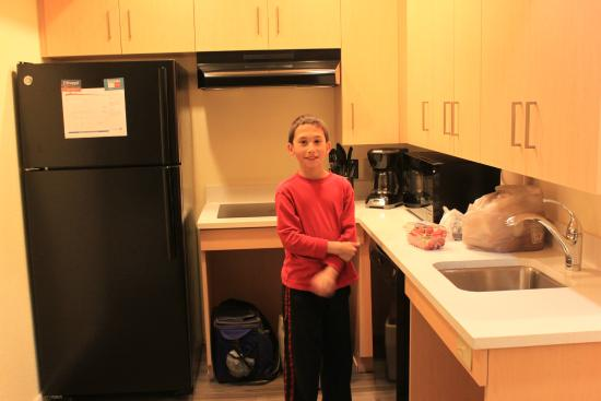 Sonesta ES Suites Malvern : Our son enjoying the kitchen