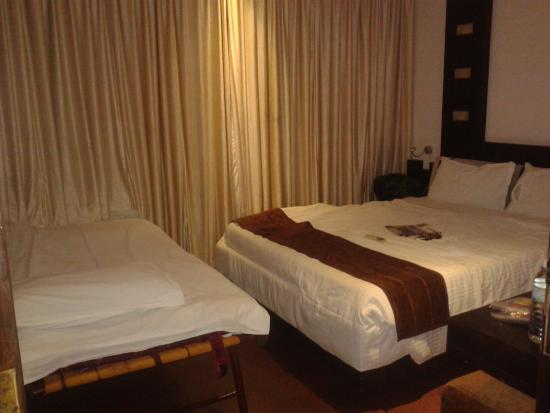 Hotel Gokulam Park: Room - cramped and no place to move around