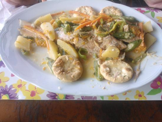 Whalers Seafood Restaurant & Sports Bar: Coconut fish