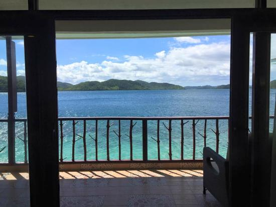 Culion, Filipiny: View from our room