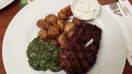 Steakgrill: NY strip steak
