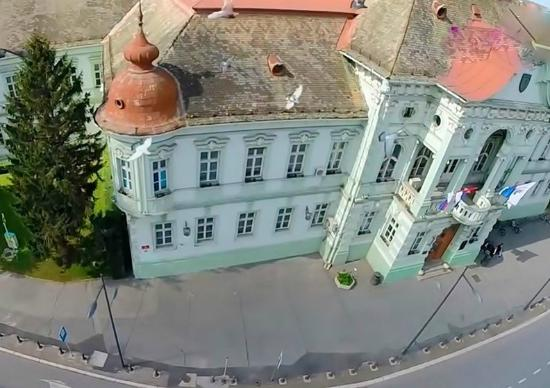 The view from a Water tower at the City Hall of Zrenjanin