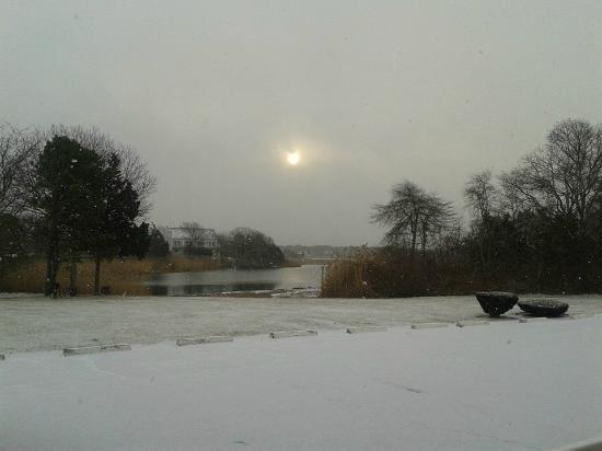 Tidewater Inn: Winter morning view. Tidewinter!