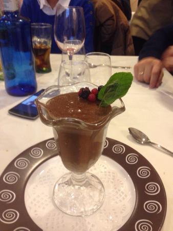 Mus de chocolate restaurante reina XIV la granja