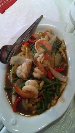 Tonsai Thai-Restaurant: Kra pow goong