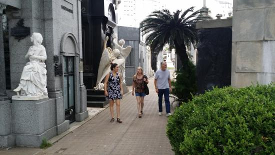 Buenos Aires Concierge: My wife, father, and Mariela at the cemetary