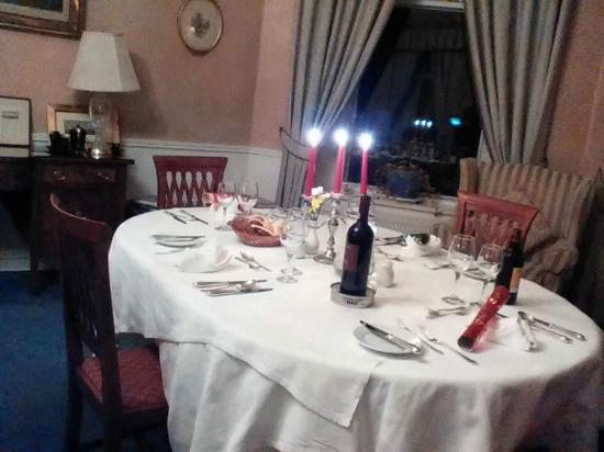 Zetland Country House Hotel: Our delicious private dinner on New Year's Eve