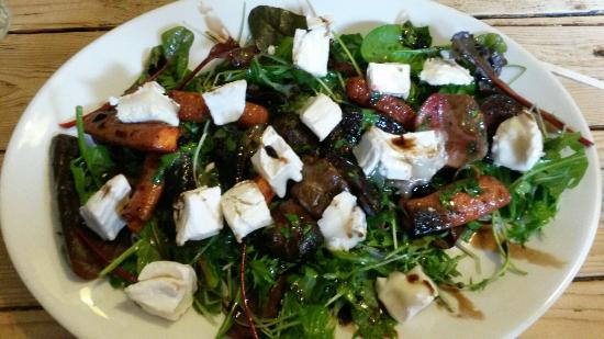 Tangerine Tree Cafe: Root veg and goats cheese - yum!