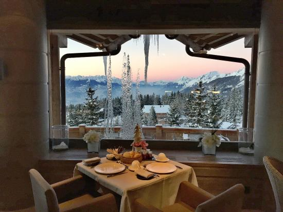 Crans-Montana, Suisse : The view from Ristorante