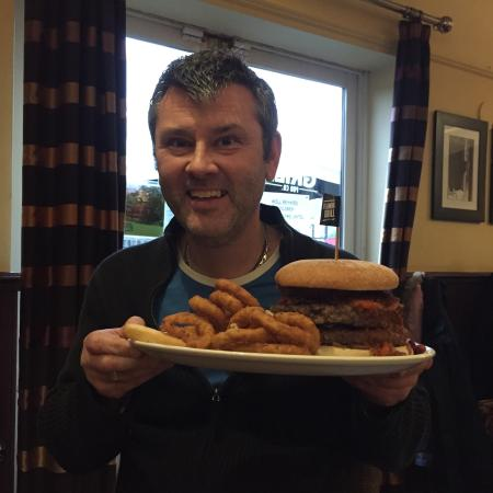 The Flaming Grill Burger Challenge Meal Picture Of The