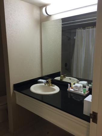 Bathroom Sinks Las Vegas hotel room bathroom sink and counter - picture of monte carlo