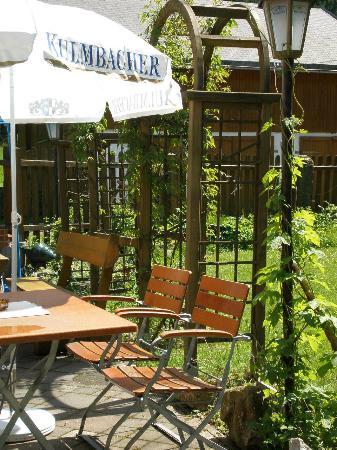 Brand, Germany: Biergarten fichtelgebirge