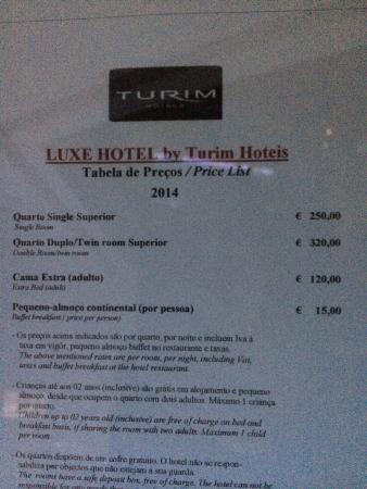 Luxe Hotel by Turim Hoteis : Prezzi